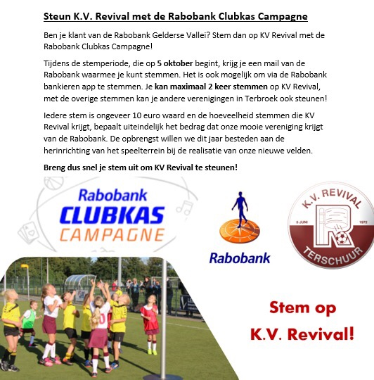 Rabo clubsupport start morgen!